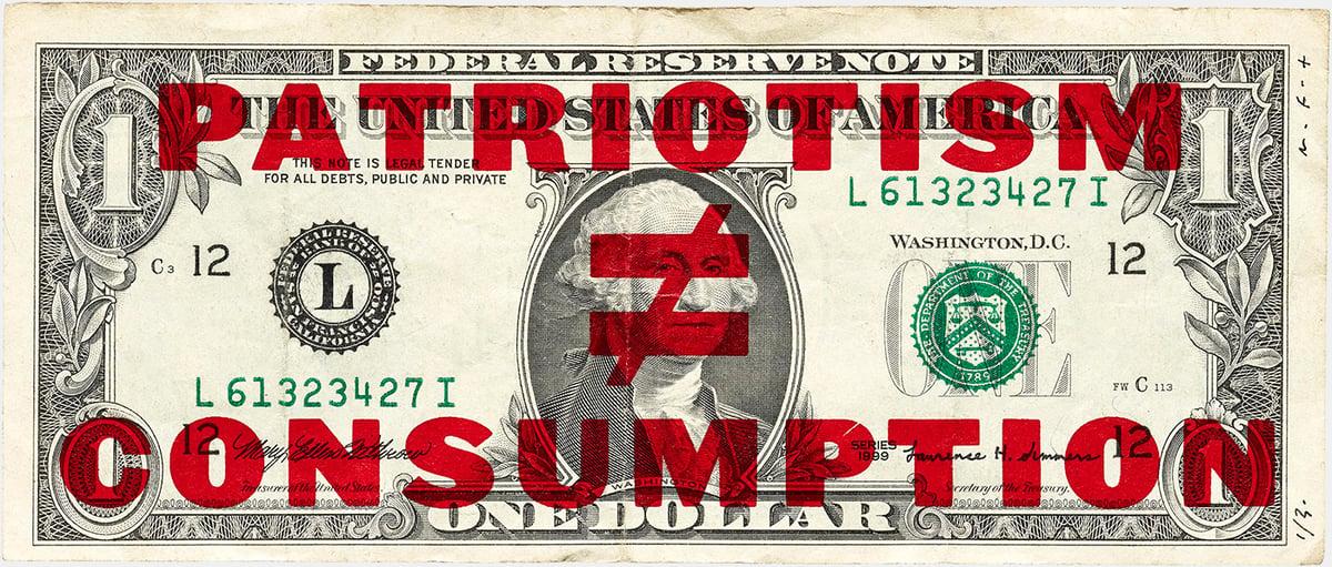 """Image of """"Patriotism ≠ Consumption"""""""