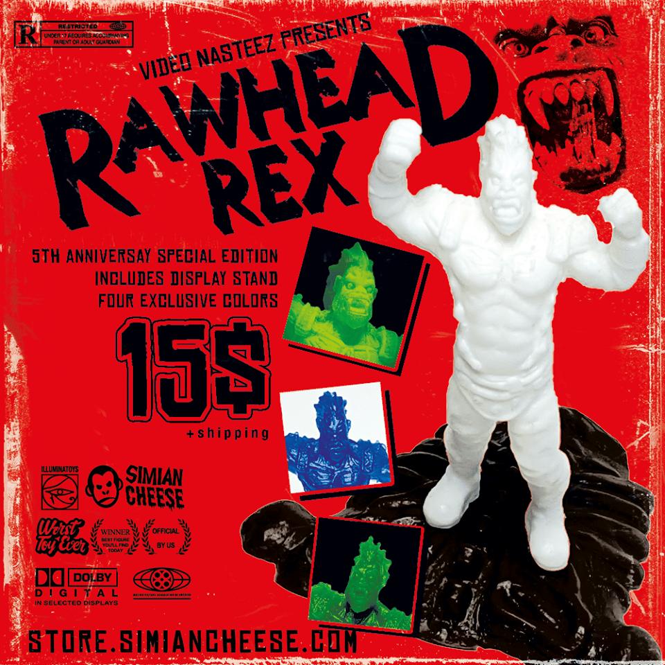 Image of Video Nasteez Rawhead Rex 5th Anniversary Mini Figure