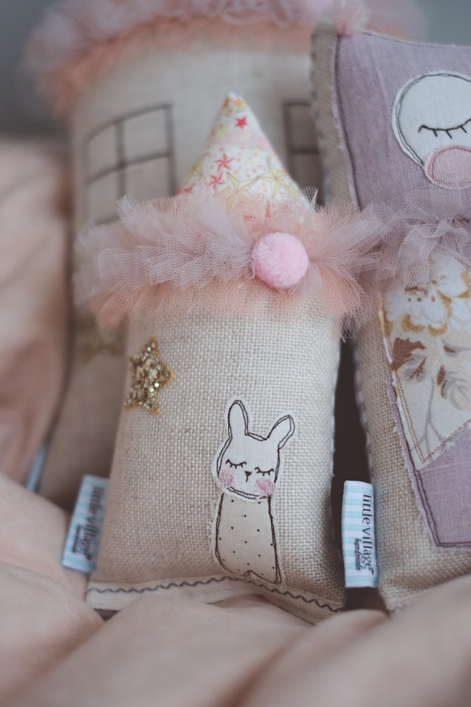 Image of LAST ONE - Teeny tiny cushion in liberty star and tulle
