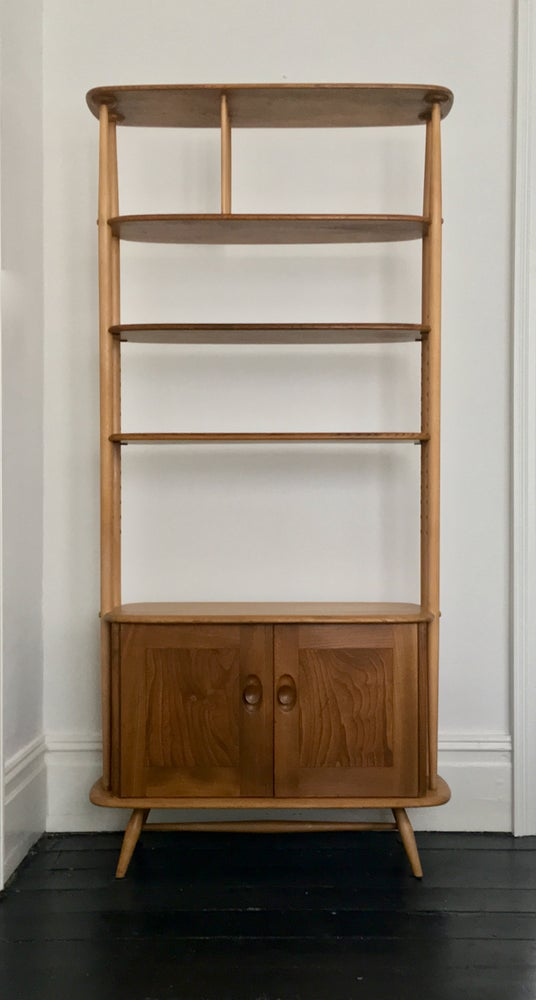 Image of Original Room Divider or Bookcase in Elm and Beech by Ercolani