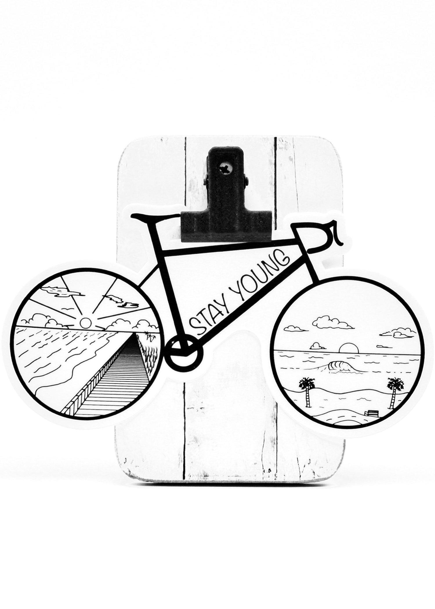 Image of Road Bike Sticker (White Background)