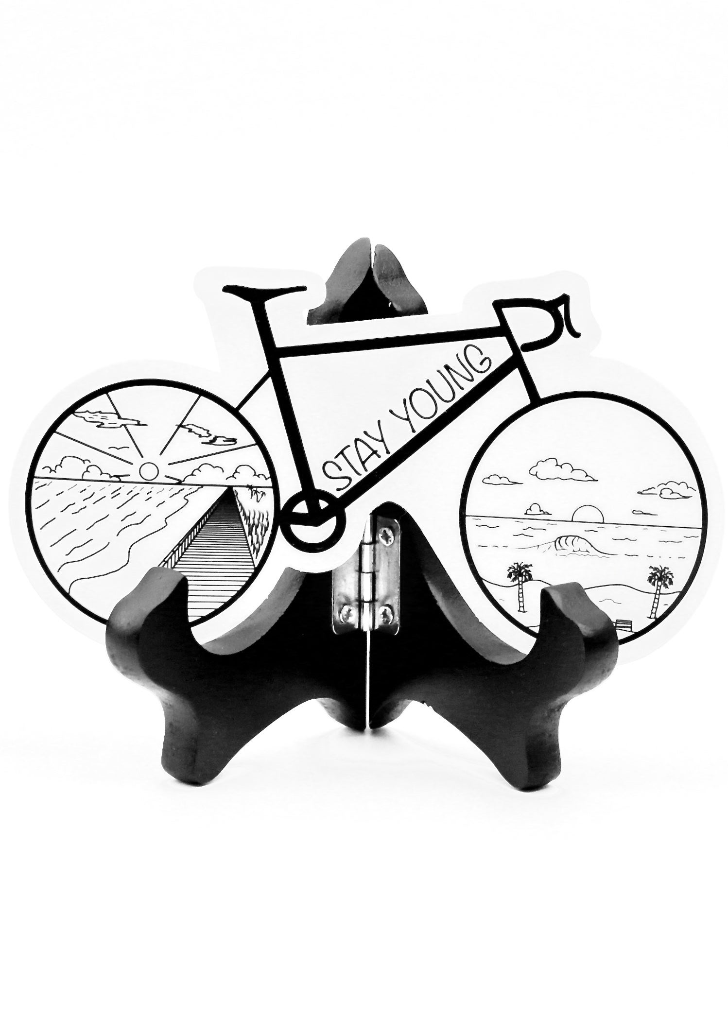 Image of Road Bike Sticker (Clear Background)