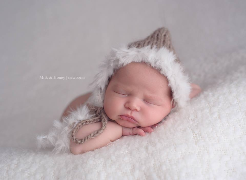 Image of Fur Trimmed Bonnet