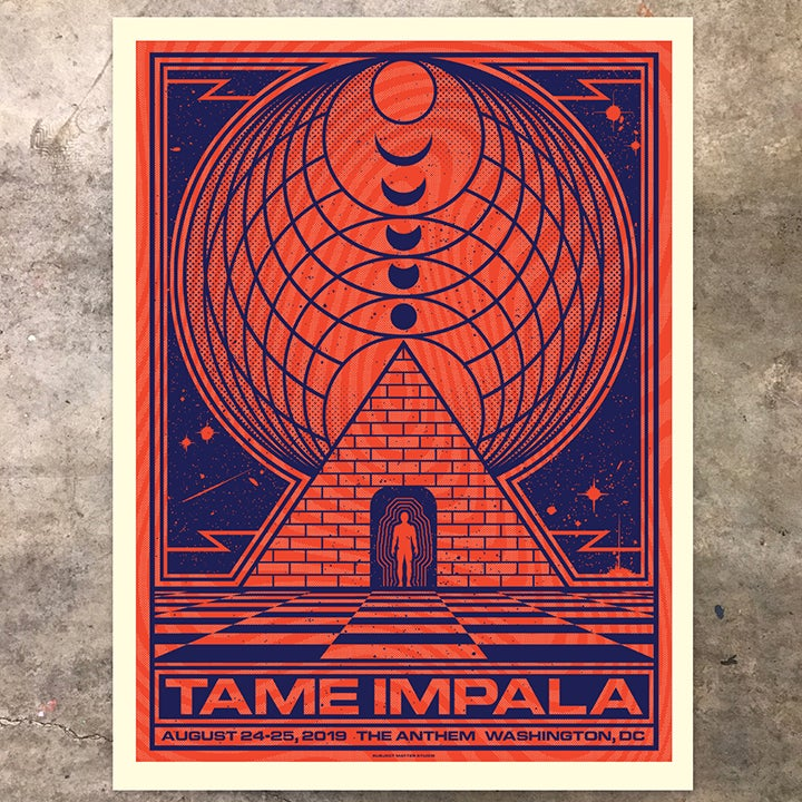 Image of Tame Impala, Washington DC 2019: Violet/Red Orange