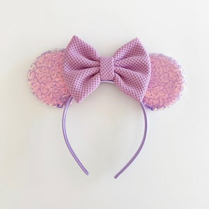 Image of Lavender Iridescent Mouse Ears with Bows