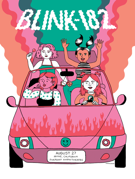Image of Blink-182 tour poster