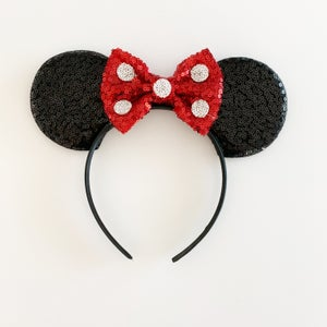 Image of Classic Minnie Ears - Sequin Polka Dot Bows
