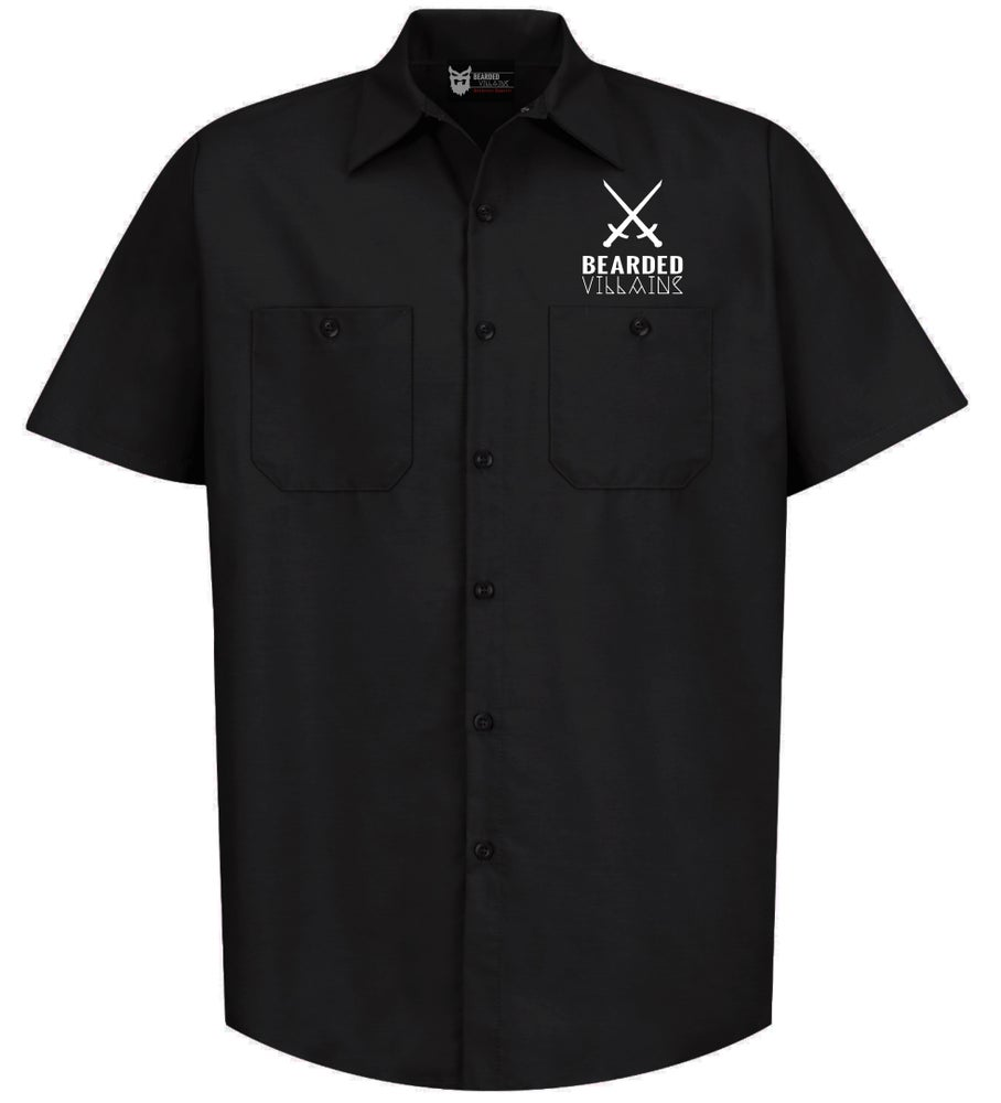 """Image of """"CRAFTSMAN"""" Black Button Up w/short sleeves"""