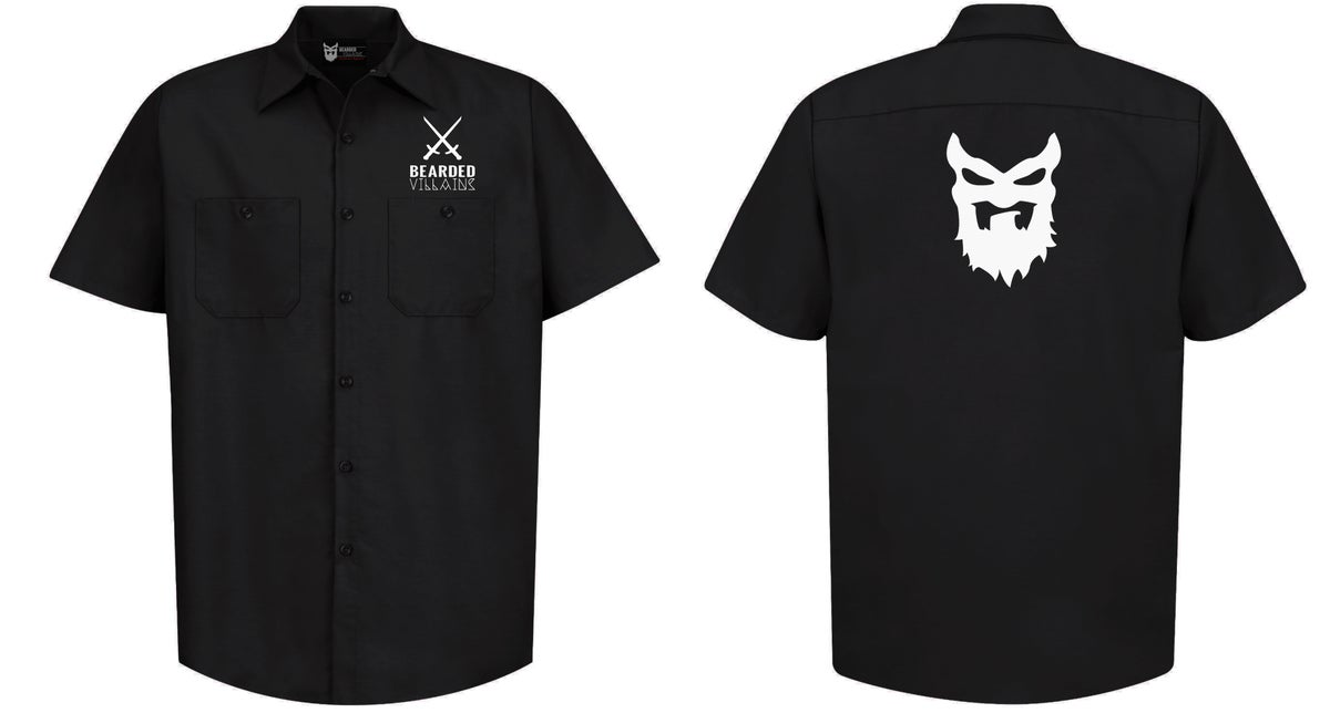 "Image of ""CRAFTSMAN"" Black Button Up w/short sleeves"