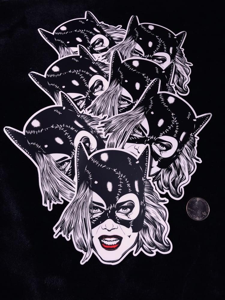 Image of Catwoman 5x5 Vinyl Slaps w/Matte Satin Finish