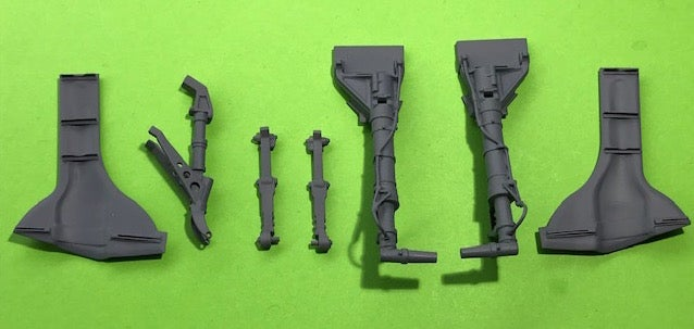 Image of Airfix Hellcat Brass undercarriage and Wheel doors