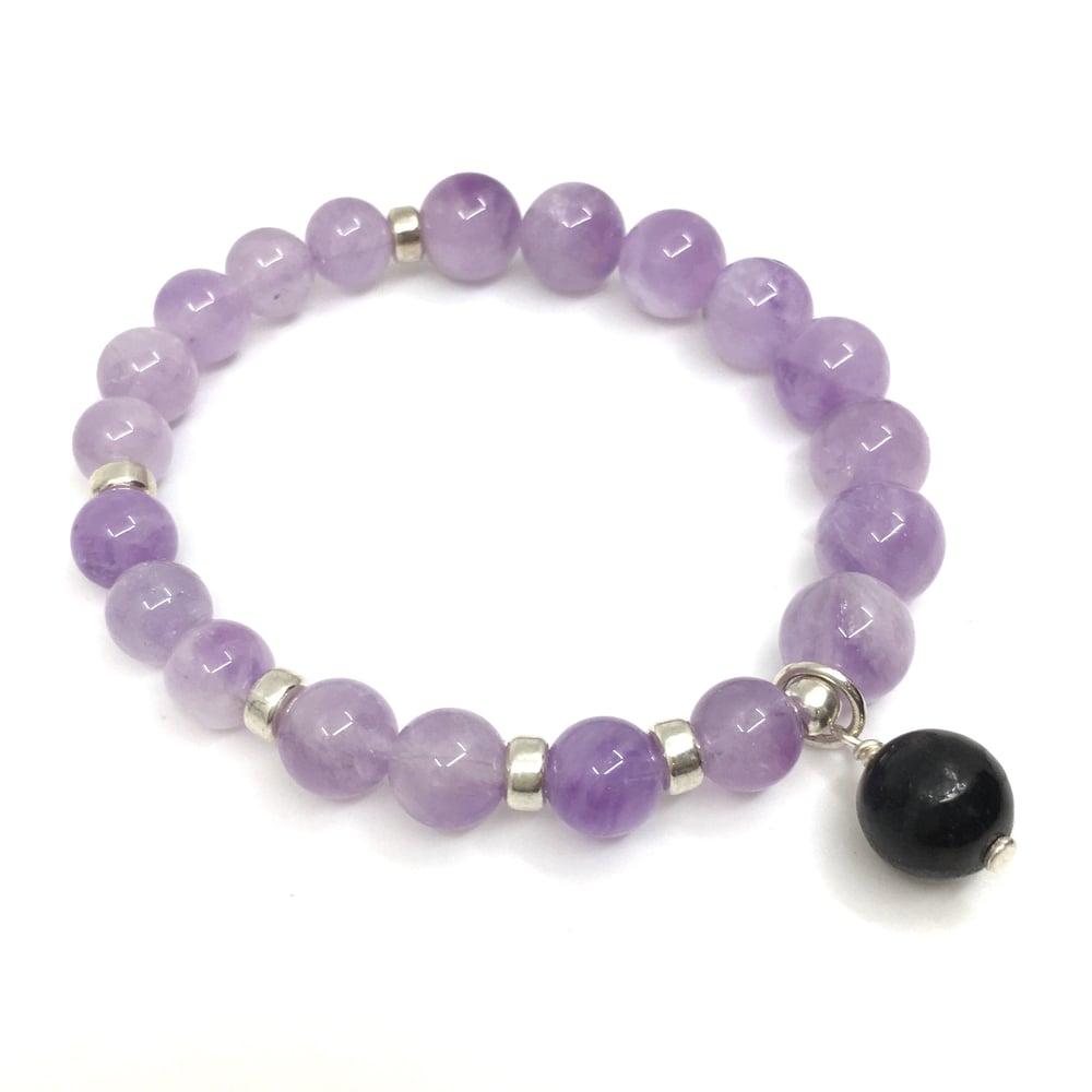 Image of Lavender Amethyst Infinity Wrist Mala