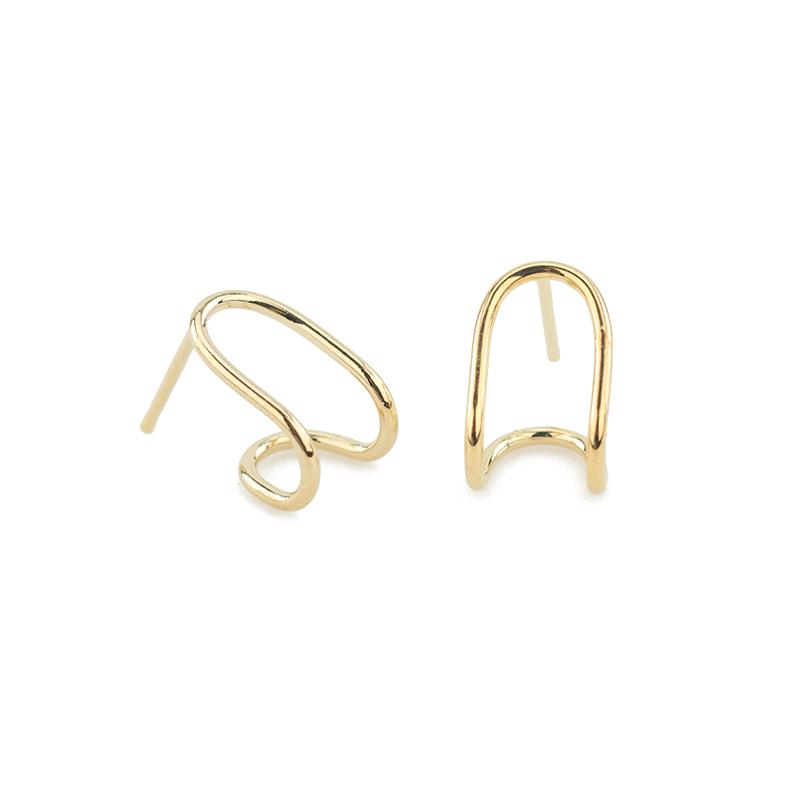Image of Double Hugger Earrings