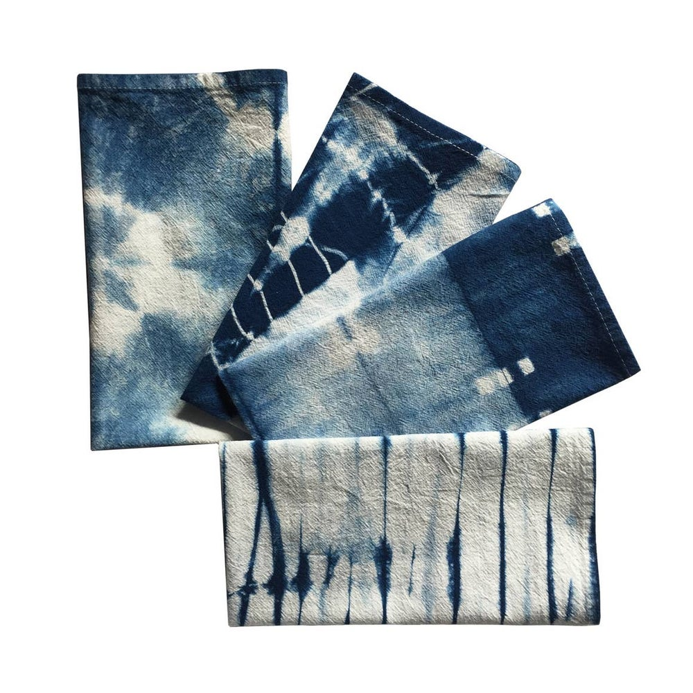 Image of Indigo Shibori Dinner Napkins