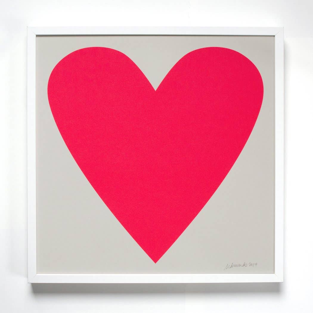 Image of Neon Pink Heart Print
