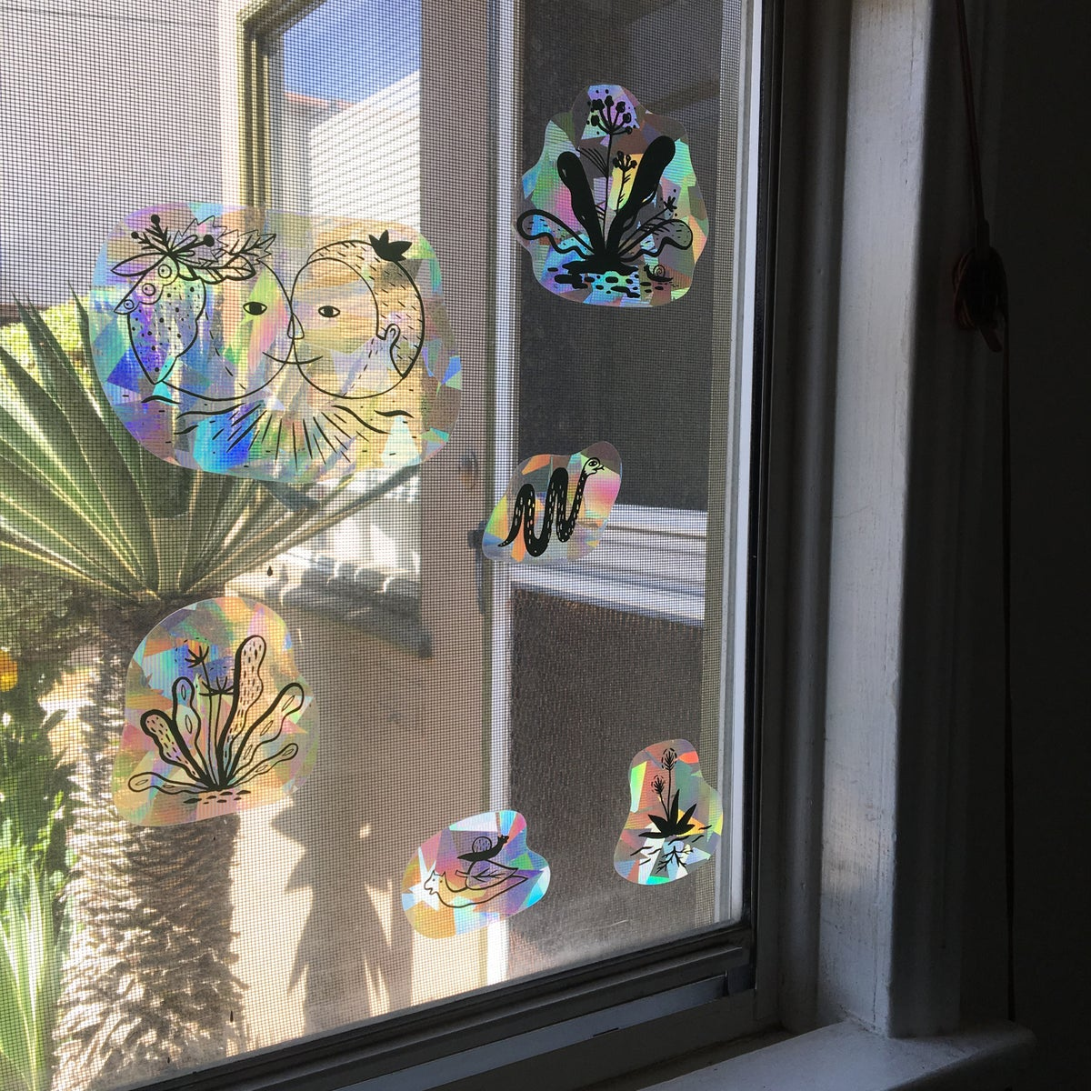 Image of Rainbow Window Decals
