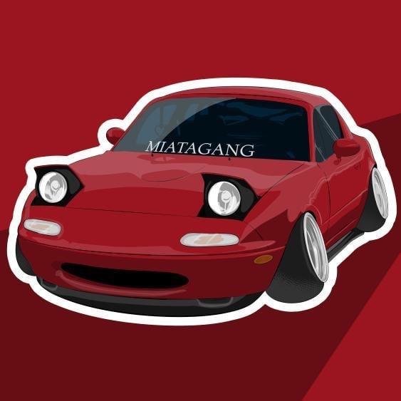 Image of NA Miata Sticker (Choose Color)
