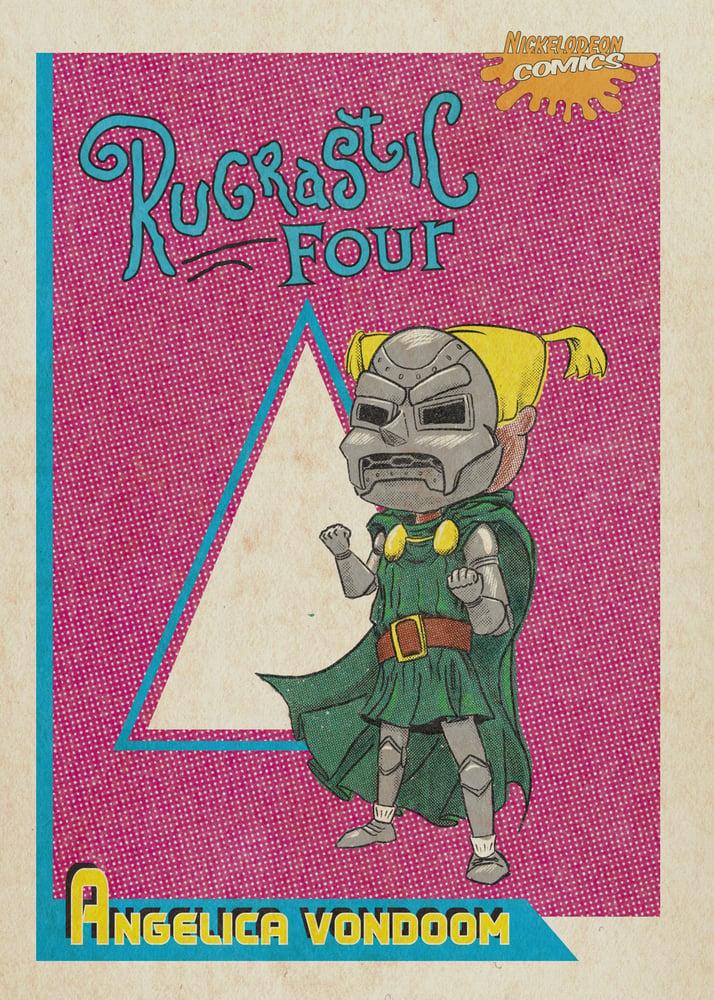 Image of 5x7 Nicktoons/Marvel Character Print