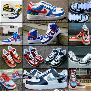 Image of Sports team Freestyle Air Force 1, Air Max 90, or Adidas Superstar (Any sport, any team)