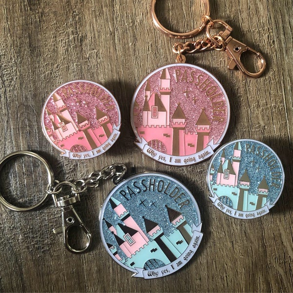 Image of West coast AP Castle Pin or Keychain