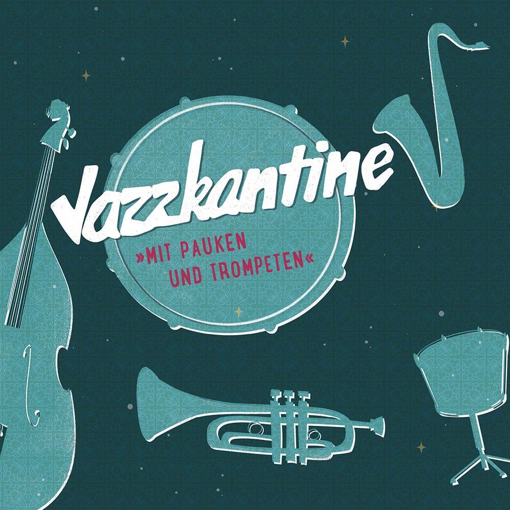 """Image of Jazzkantine """"Mit Pauken und Trompeten"""" / LP Album"""