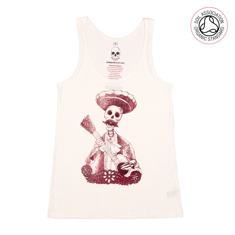 Day of the Dead Girls Natural Cotton Tank