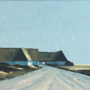 Image of Landscape Painting, 'Road to Skåne,' Bengt Hillgrund