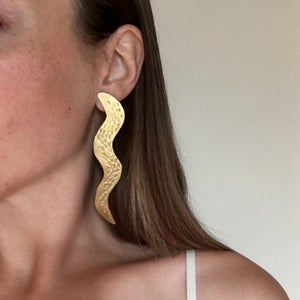 Image of serpent earring
