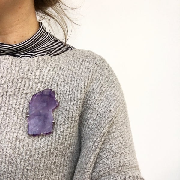 Image of Amethyst Brooch