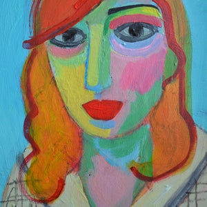 Image of Portrait Painting, 'Bronie,' Poppy Ellis