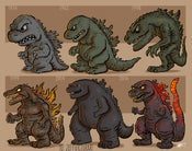 Image of Evolution of Godzilla