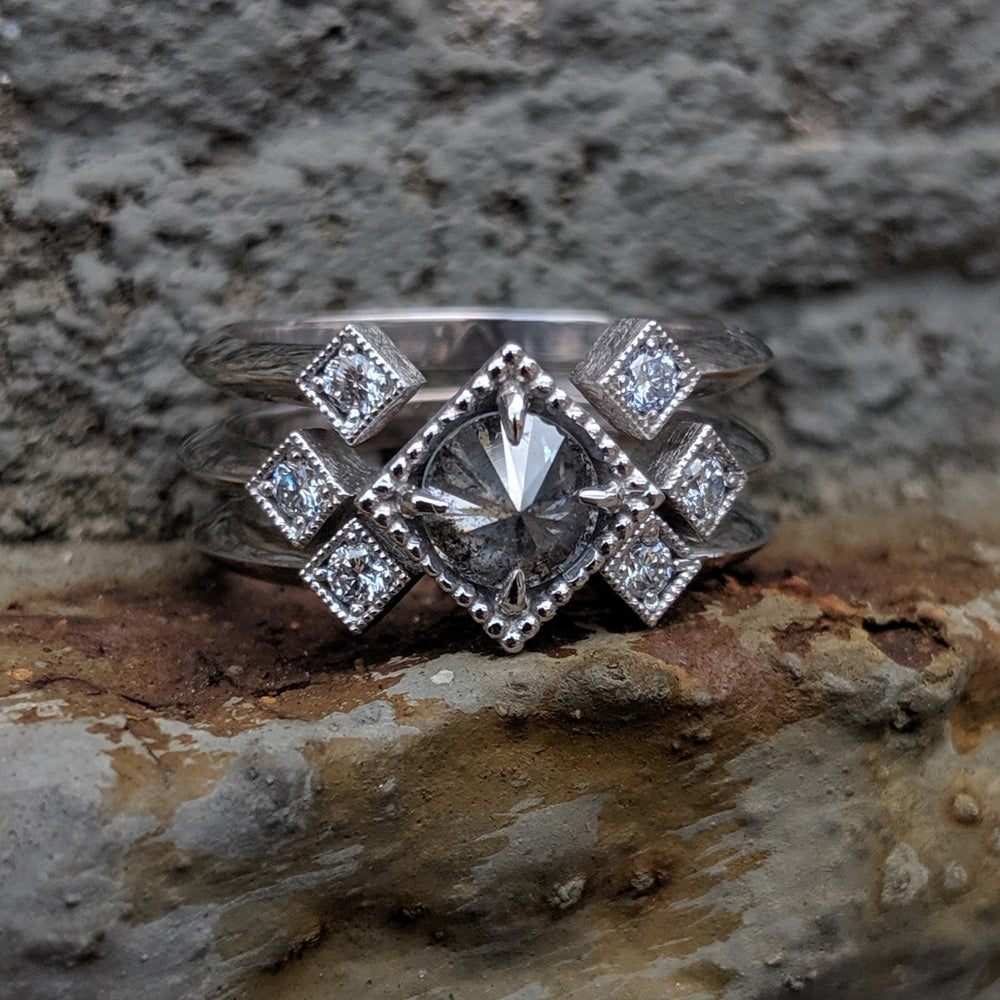 Image of Celeste Blanc Ring Set