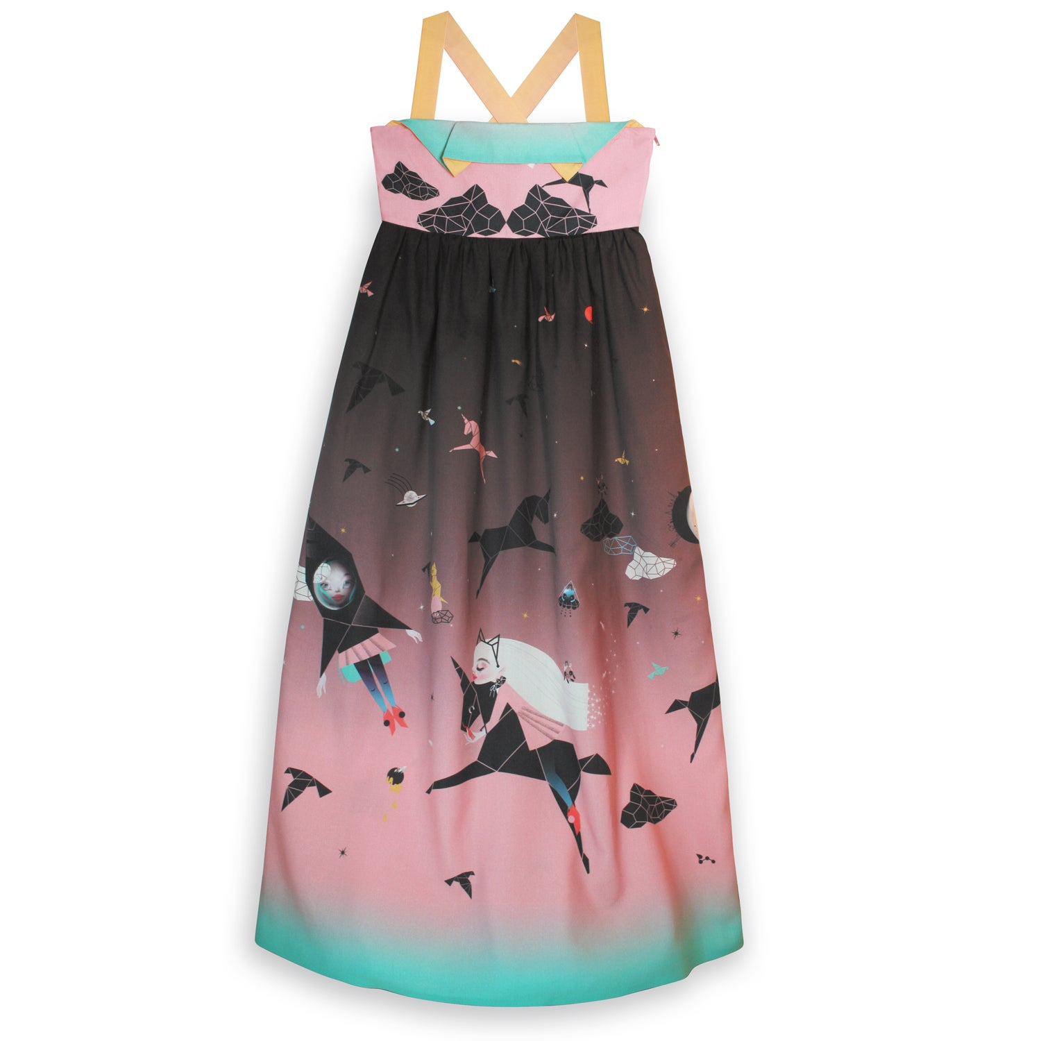 Image of 'space oddities' girls dress