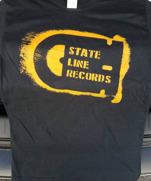 Image of State Line Records - stencil logo shirt