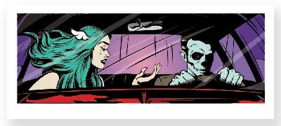 "Image of DFACE - ""DRIVE BY SHOUTING"" - 15 COLOUR SCREENPRINT - LTD ED 150 - 100CM X 47CM"
