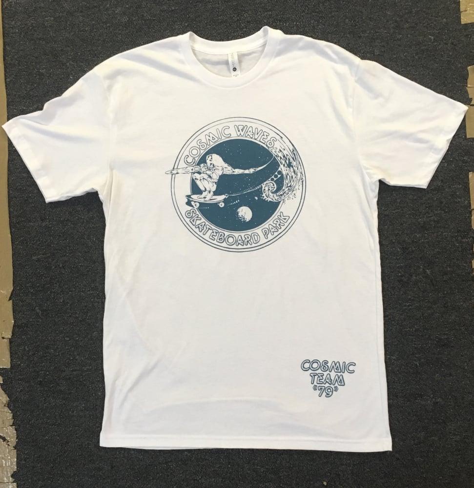 Image of Cosmic Waves Skatboard Park T-shirt