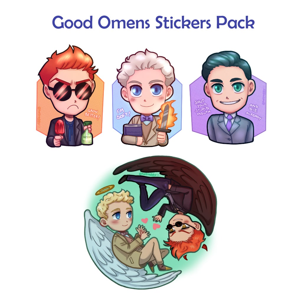 Image of Good Omens Stickers Pack