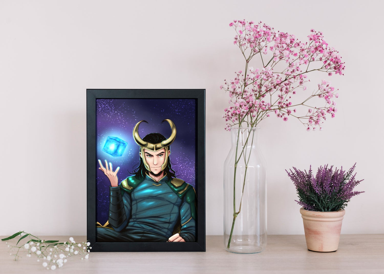 Image of Loki and the Tesseract Print