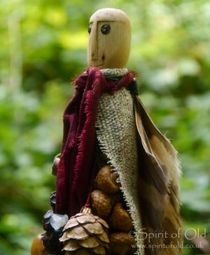 Image of Stonehenge Owl Tree Spirit figure (TS041)