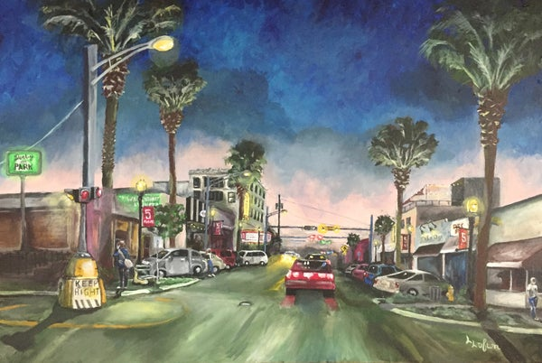 Image of L0003  Five Points in It's Twilight - Original Acrylic
