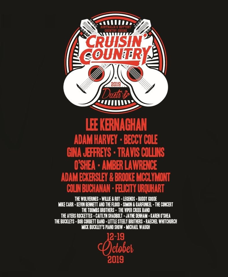Image of Limited Edition Cruisin' Country 2019 T-Shirt - Black