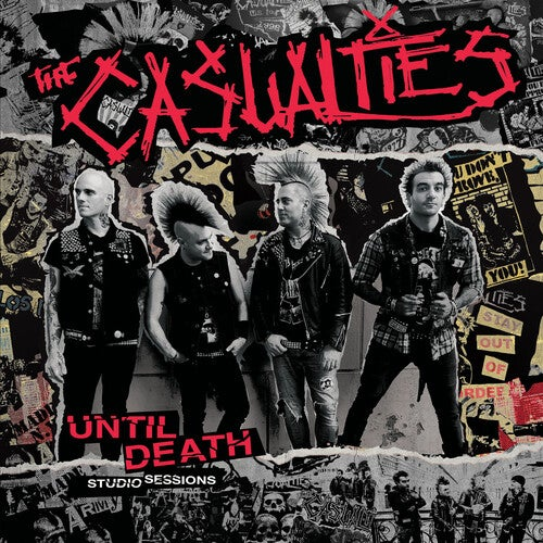 Image of *NEW* The Casualties - Until Death: Studio Sessions LP (red, white or blue vinyl)