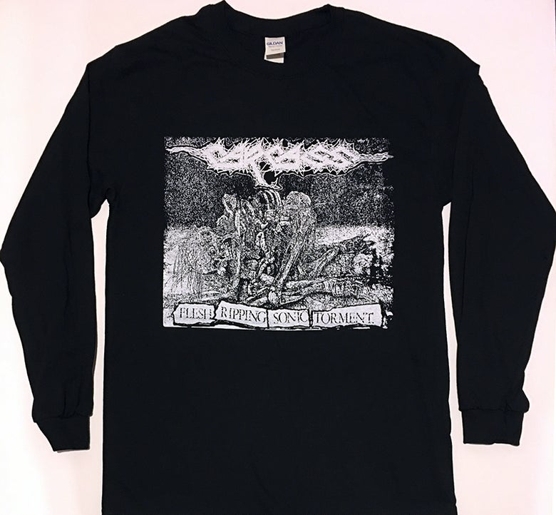 "Image of Carcass "" Flesh Ripping Sonic Torment "" Long sleeve T-shirt"
