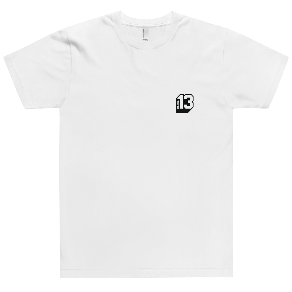Image of Men's Bldg.13 Logo Signature Tee (White)