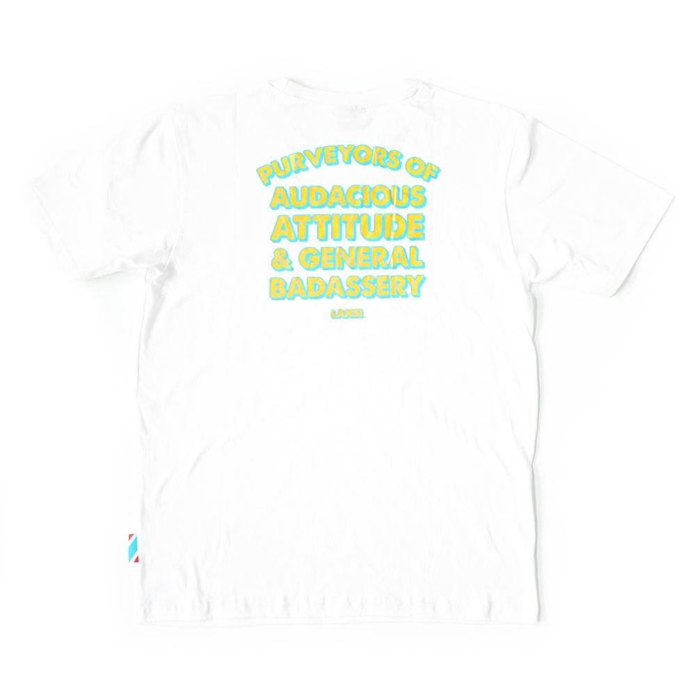 Image of LANSI Alias T-shirt (White/Cyan)