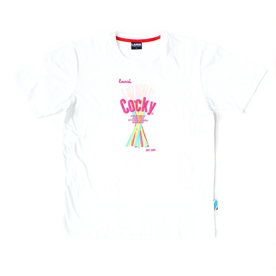 "Image of LANSI ""Cocky"" T-shirt 2019 (White)"