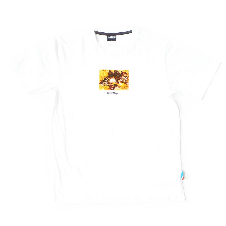 "Image of LANSI ""Feline"" T-shirt (White)"