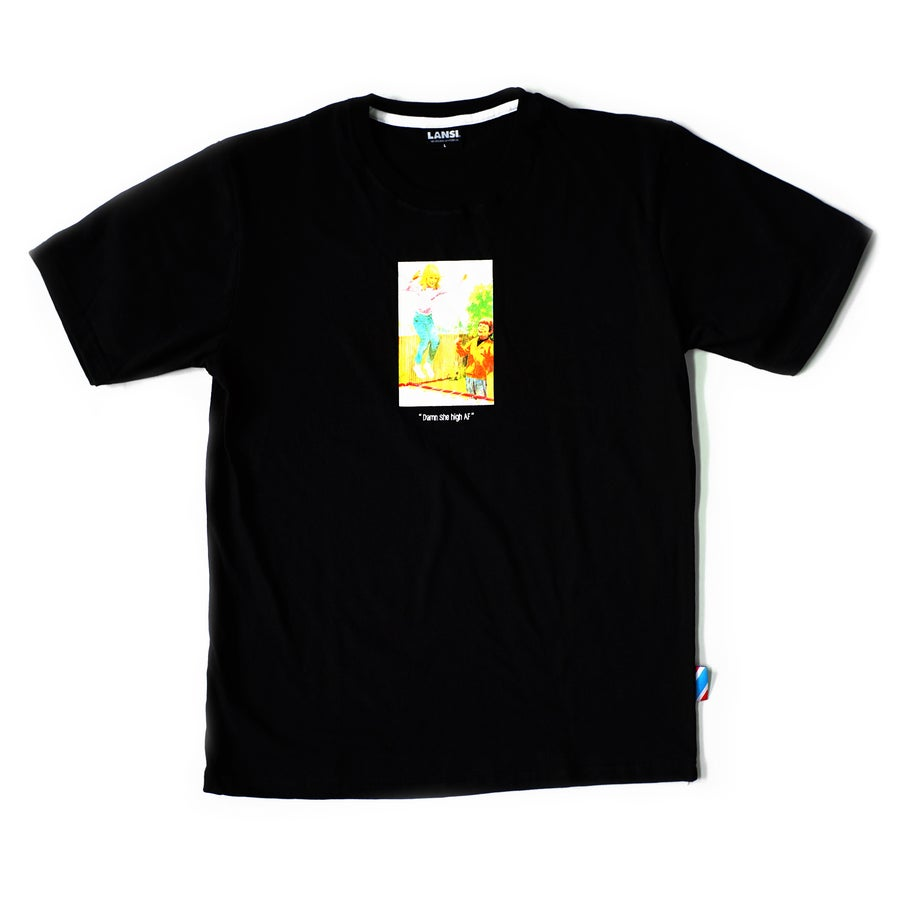 "Image of LANSI ""Trampoline"" T-shirt (Black)"