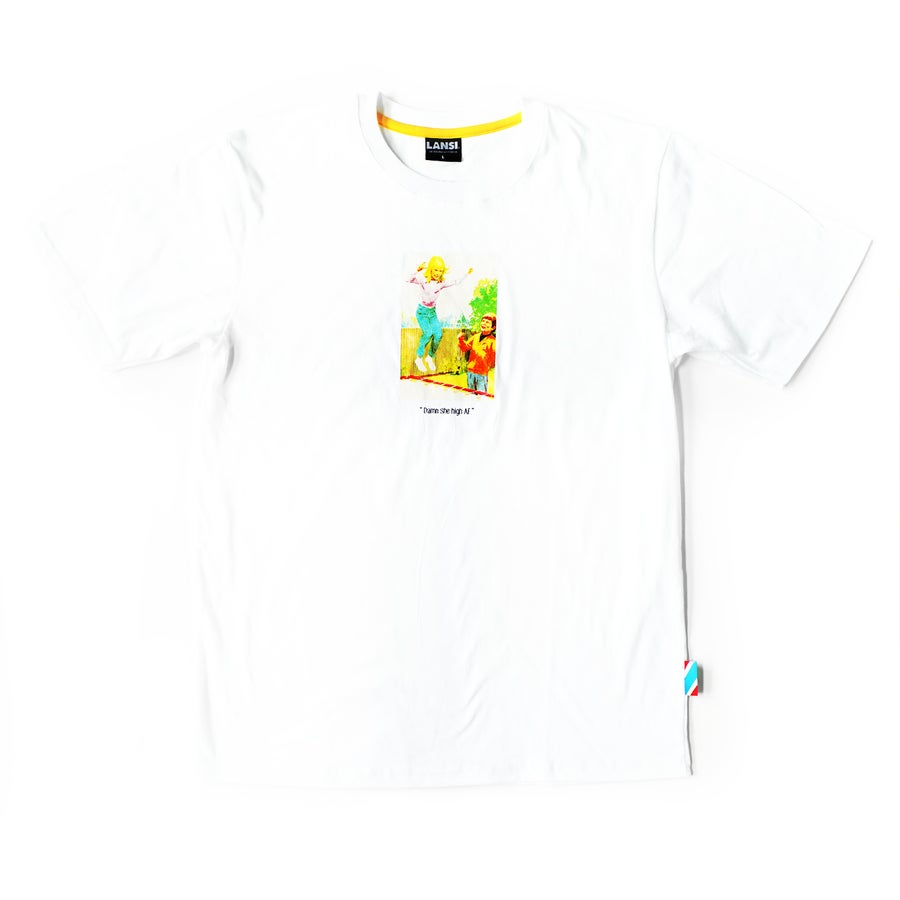 "Image of LANSI ""Trampoline"" T-shirt (White)"