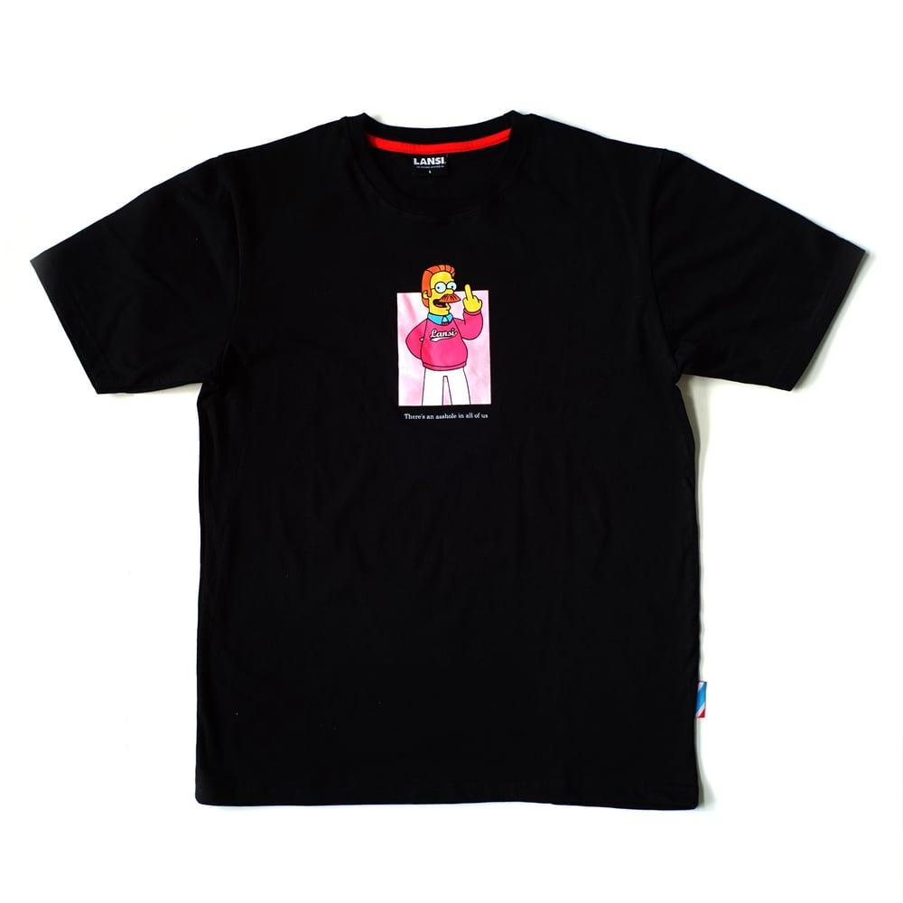 """Image of LANSI """"Ned"""" T-shirt (Black)"""